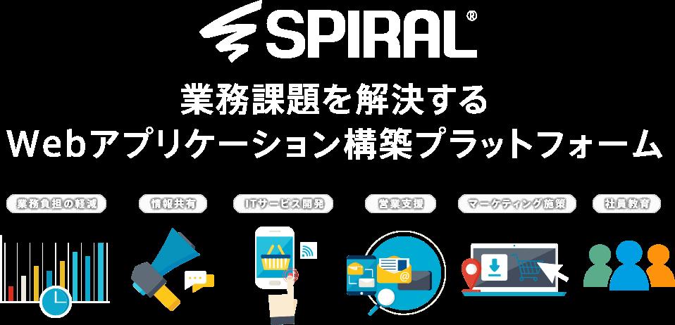 SPIRAL®業務課題を解決するWebアプリケーション構築プラットフォーム