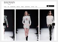 ブルーベル・ジャパン社が運営する 「BALMAIN」ブランドサイト