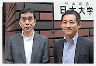 左:本部学務部教育推進課課長   並木洋明氏 右:同課国際交流室 栗林健太氏