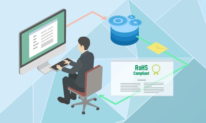 RoHS指令適合証明書自動発行システム